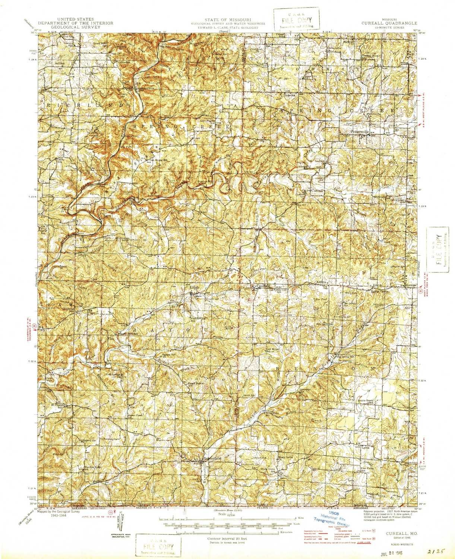Amazon Com Yellowmaps Cureall Mo Topo Map 1 62500 Scale 15 X 15