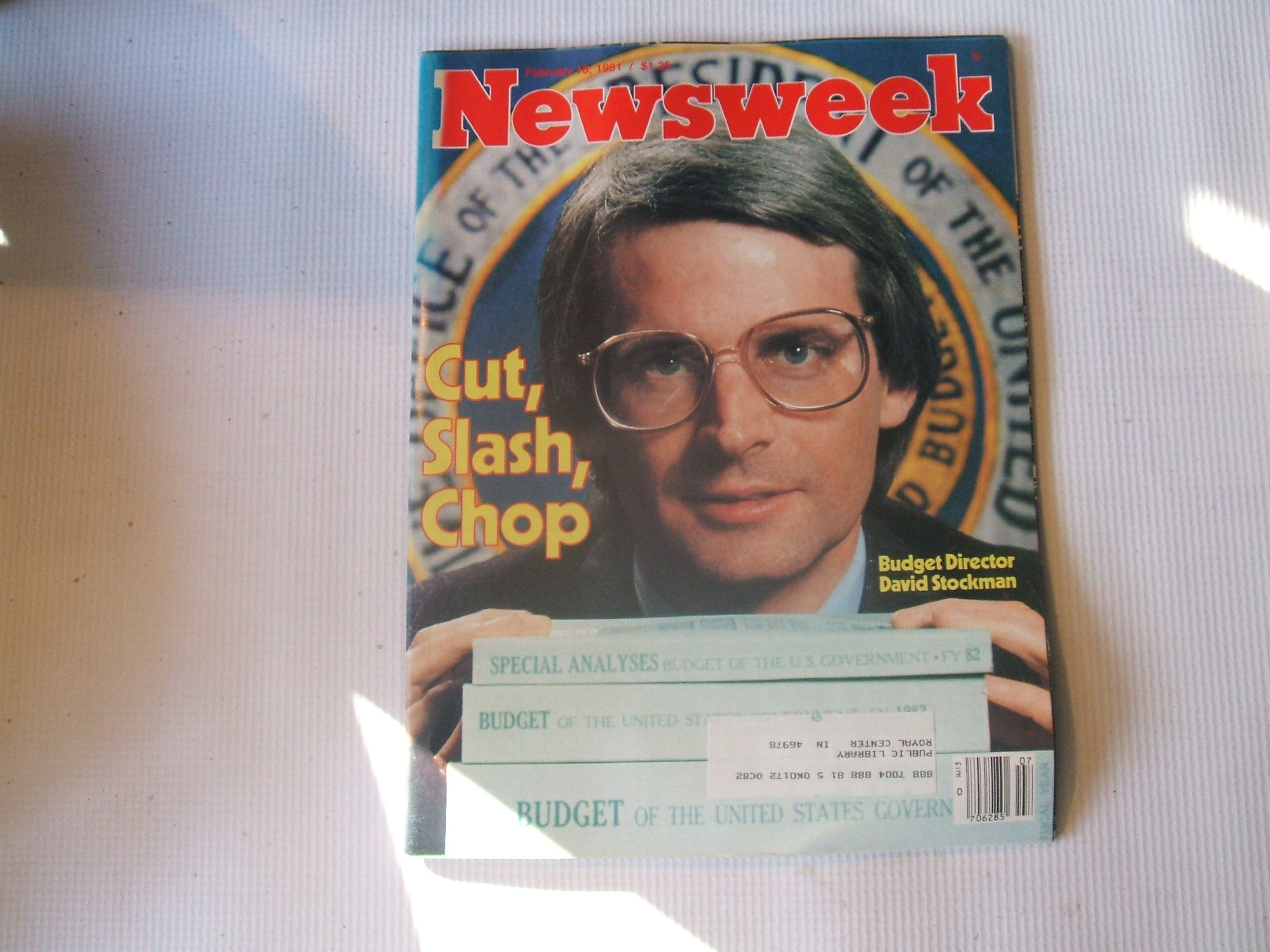 Newsweek February 16, 1981 (CUT, SLASH, CHOP - BUDGET