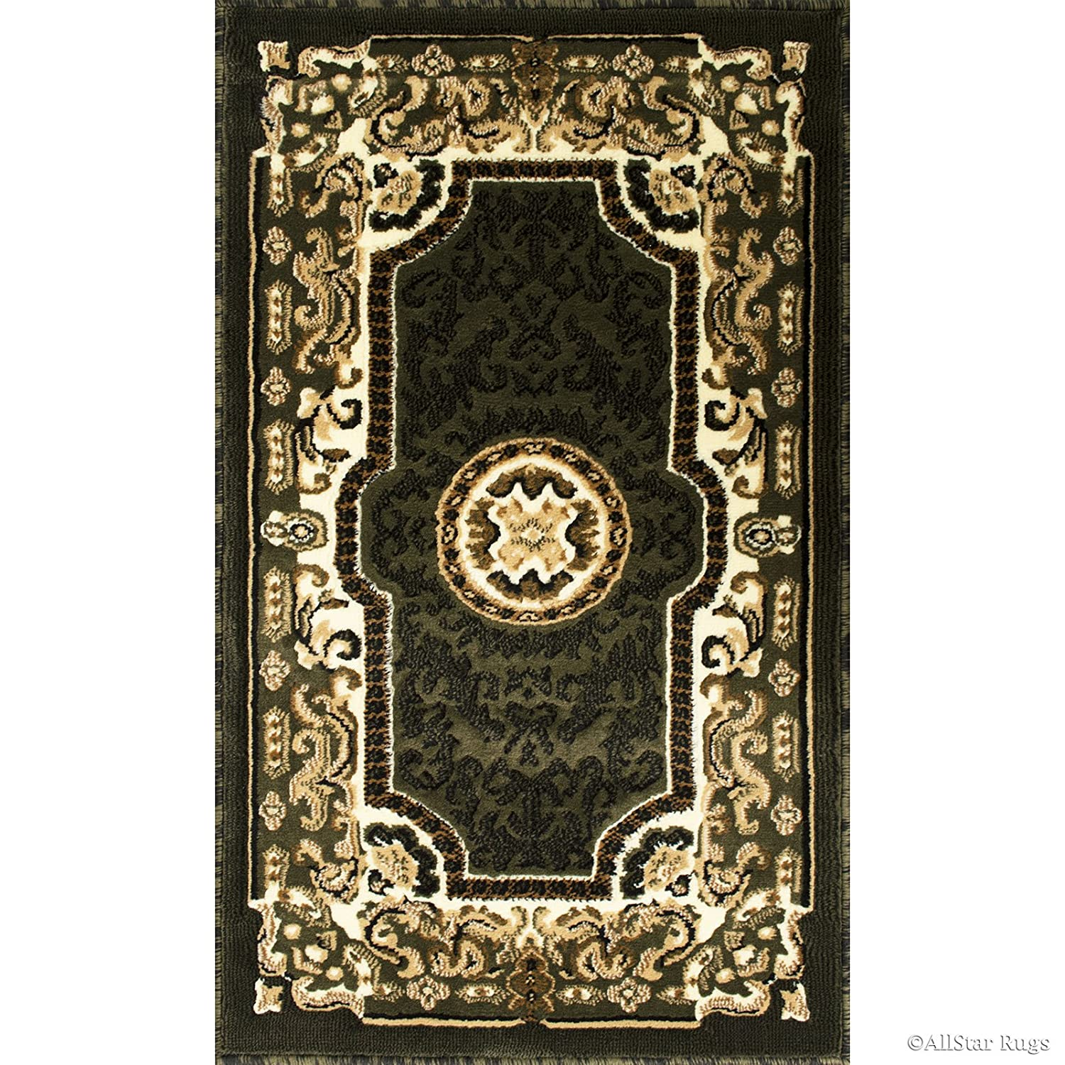 2 X 3 3 Allstar 2 X 3 Sage Green Doormat Accent Area Rug Woven High Density Drop-Stitch Carving