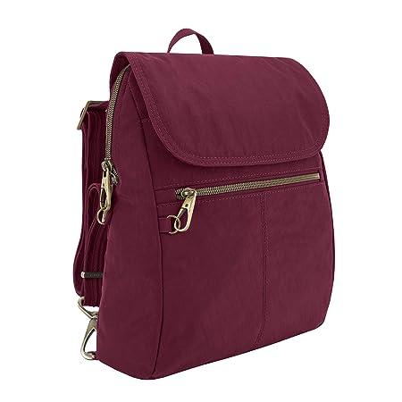 Travelon Anti-theft Signature Slim Backpack, Ruby