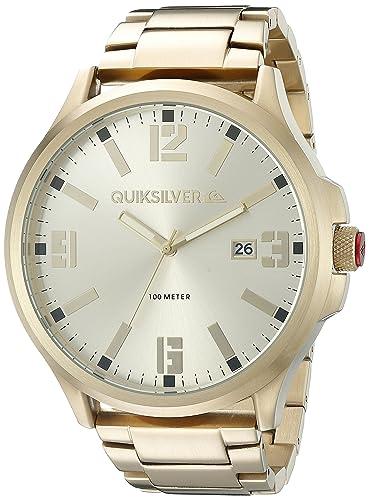 Quiksilver de Hombre QS/1002gdgp la beluka Fecha función de Reloj de Pulsera de Color Dorado: Amazon.es: Relojes