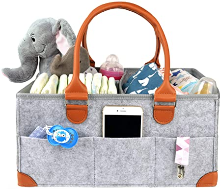 Amazon.com: KENGA Baby Diaper Caddy Organizer: Portable ...