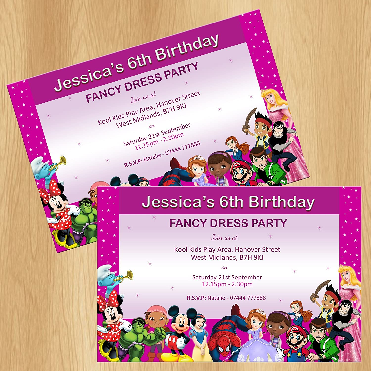 Fancy Dress Party Invitations Personalised Invites: Amazon.co.uk ...