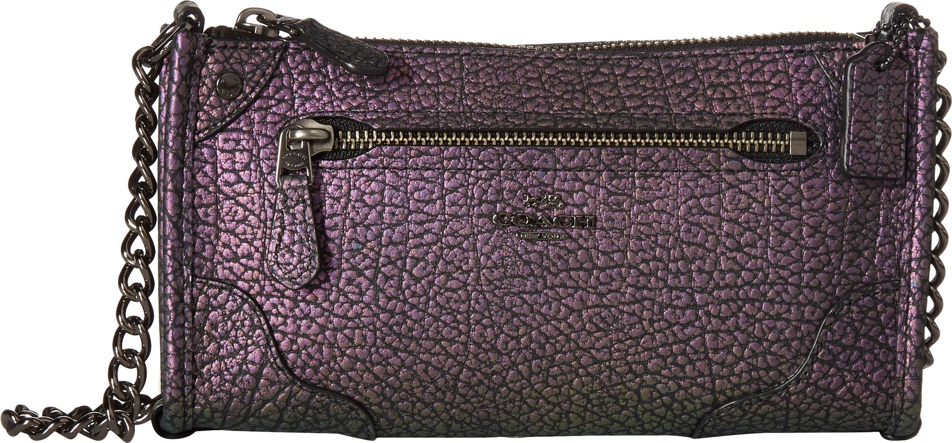 COACH Women's Grain Leather Mickie Crossbody Dk/Hologram One Size by Coach