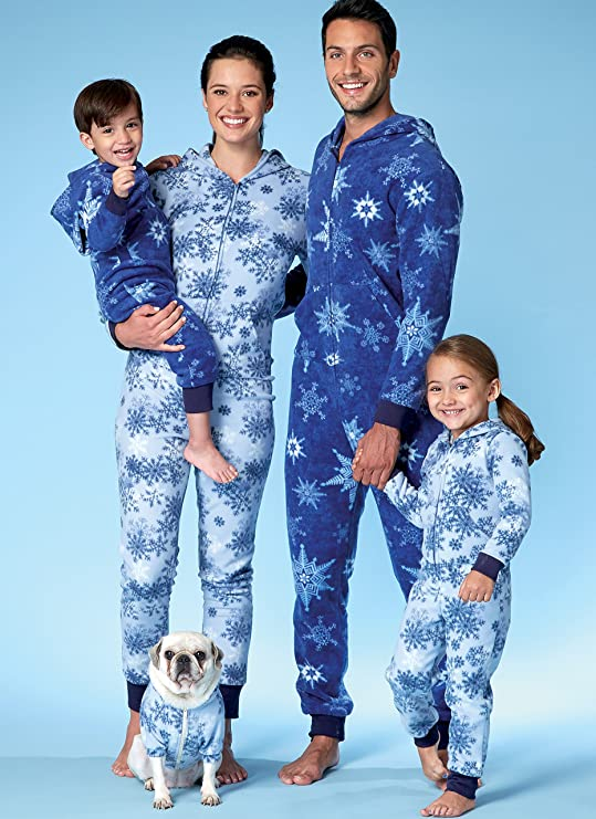 Amazon.com: McCall Patterns M7518KID Mens/Misses/Boys/Girls/Childrens Hooded Jumpsuits and Dog Coat with Kangaroo Pocket
