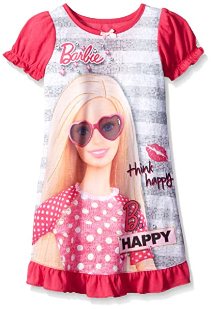 Amazon.com: Barbie albornoz de las niñas, Bata, 2T, Rosado ...