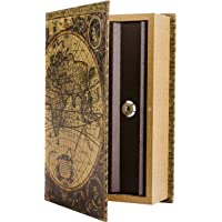BARSKA Antique Map Diversion Book Lock Box, Multi