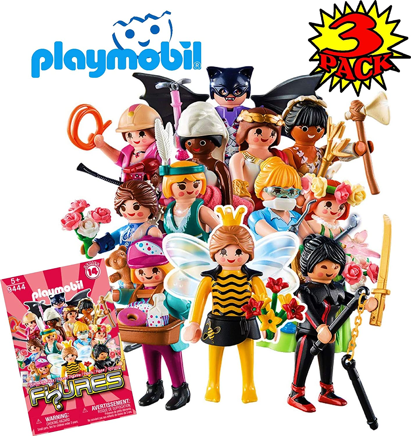 Pink Gift Set Party Bundle 3 Pack PLAYMOBIL/® Figures Mystery Blind Bags Series 14 Girls 9444 Assorted