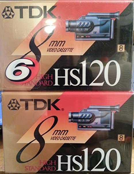 TDK 8mm Video Cassette HS 120 6 pack