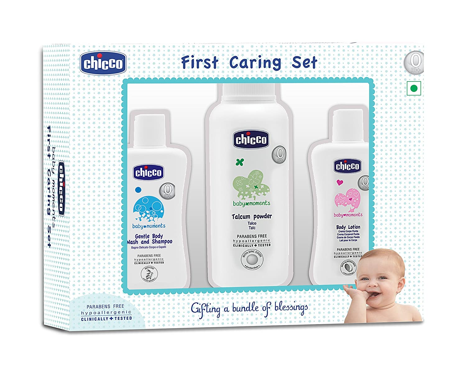 Buy Chicco Baby Moment Gift Pack Set Blue Online At Low Prices In Moments Nappy Cream 100ml India