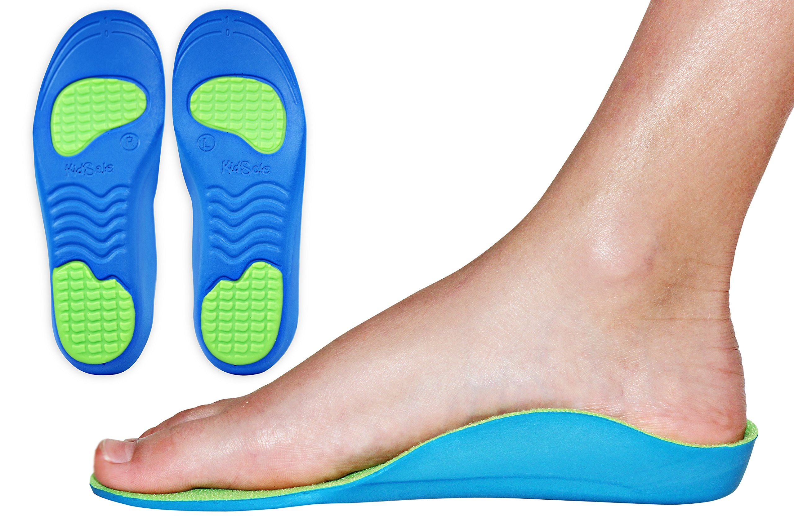 24e5948b8f Neon Fix Premium Grade Orthotic Insole by KidSole For Flat Feet and Arch  Support (20