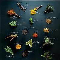 Pro-Art-Bilderpalette gla1373d Herbage Mix Glas-Art, bunt, 20 x 20 x 1,3 cm