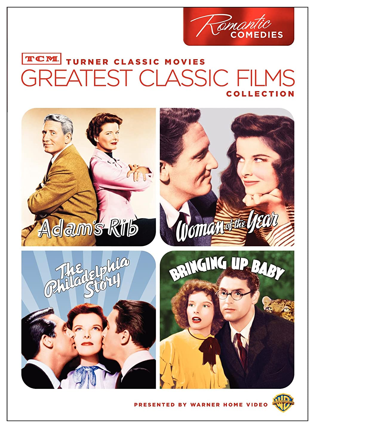 TCM Greatest Classic Films: Romantic Comedies (Adam's Rib/Woman of the Year/The Philadelphia Story/Bringing up Baby) Various Warner Bros. Home Video 5072295 Movie
