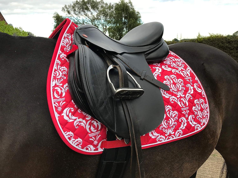 New Horse Pony Saddle Pad Cloth Numnah Zebra Print Saddle Pad Pony Cob or Full