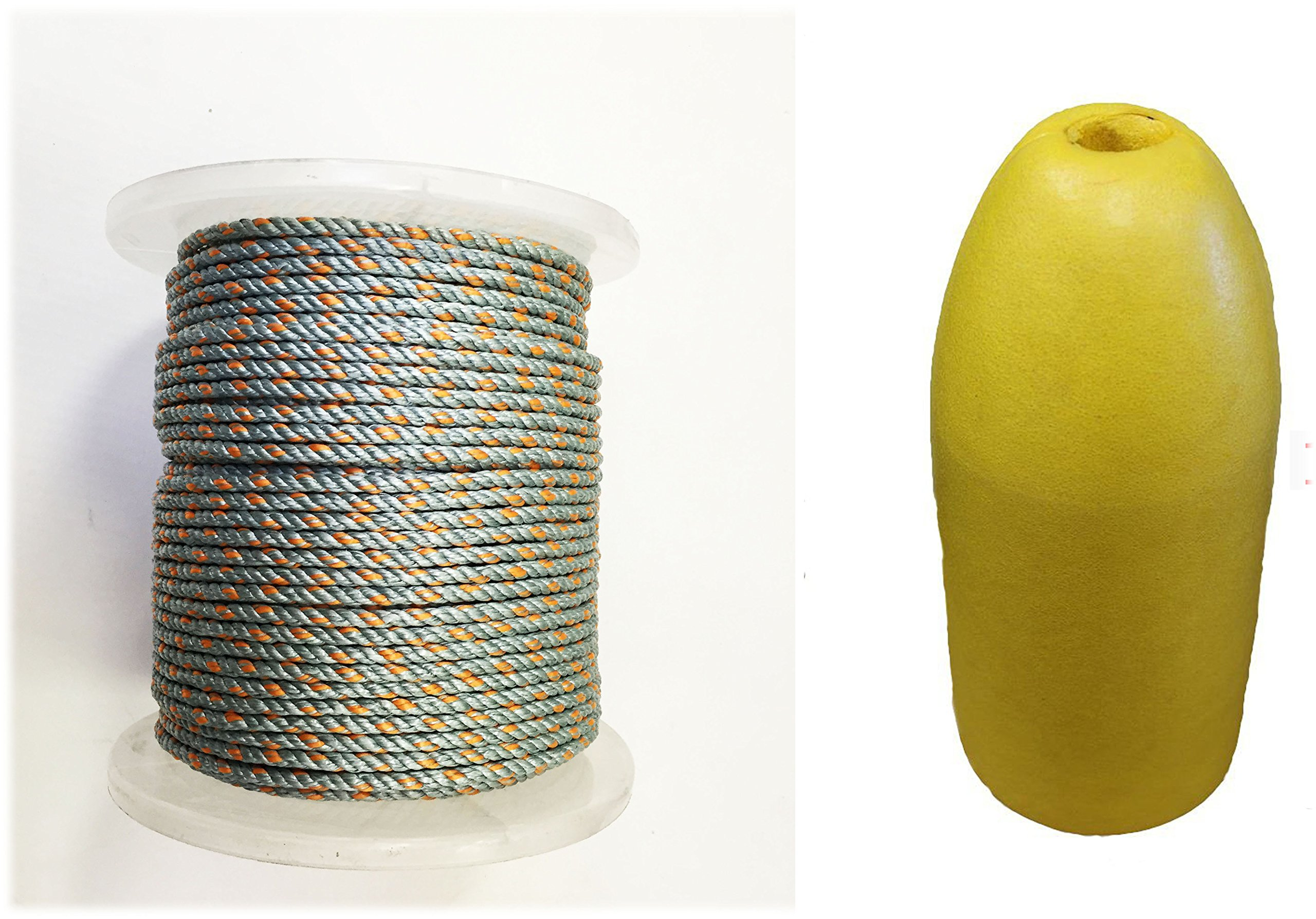 KUFA Sports 1/4 Diameter/400' Lead Core Rope & 11'' Yellow Float Combo by KUFA Sports