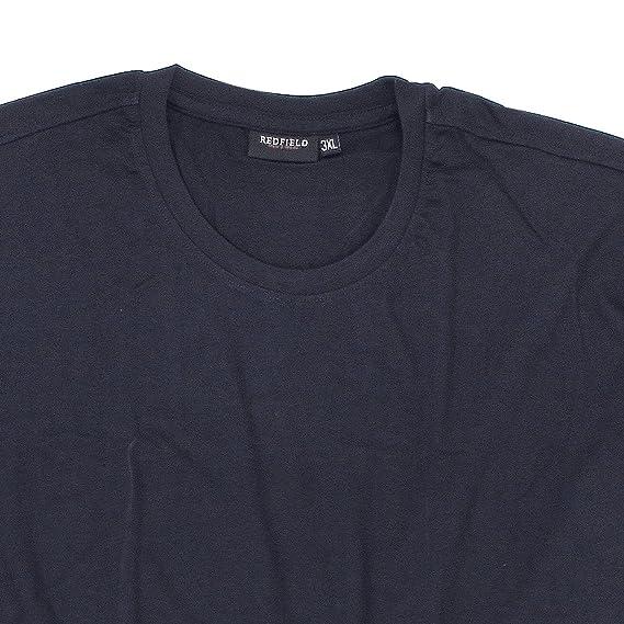 Pack de 2 t-shirts bleu foncé col rond de Redfield en grandes tailles  jusqu à 8 XL  Amazon.fr  Vêtements et accessoires 84197febde7a