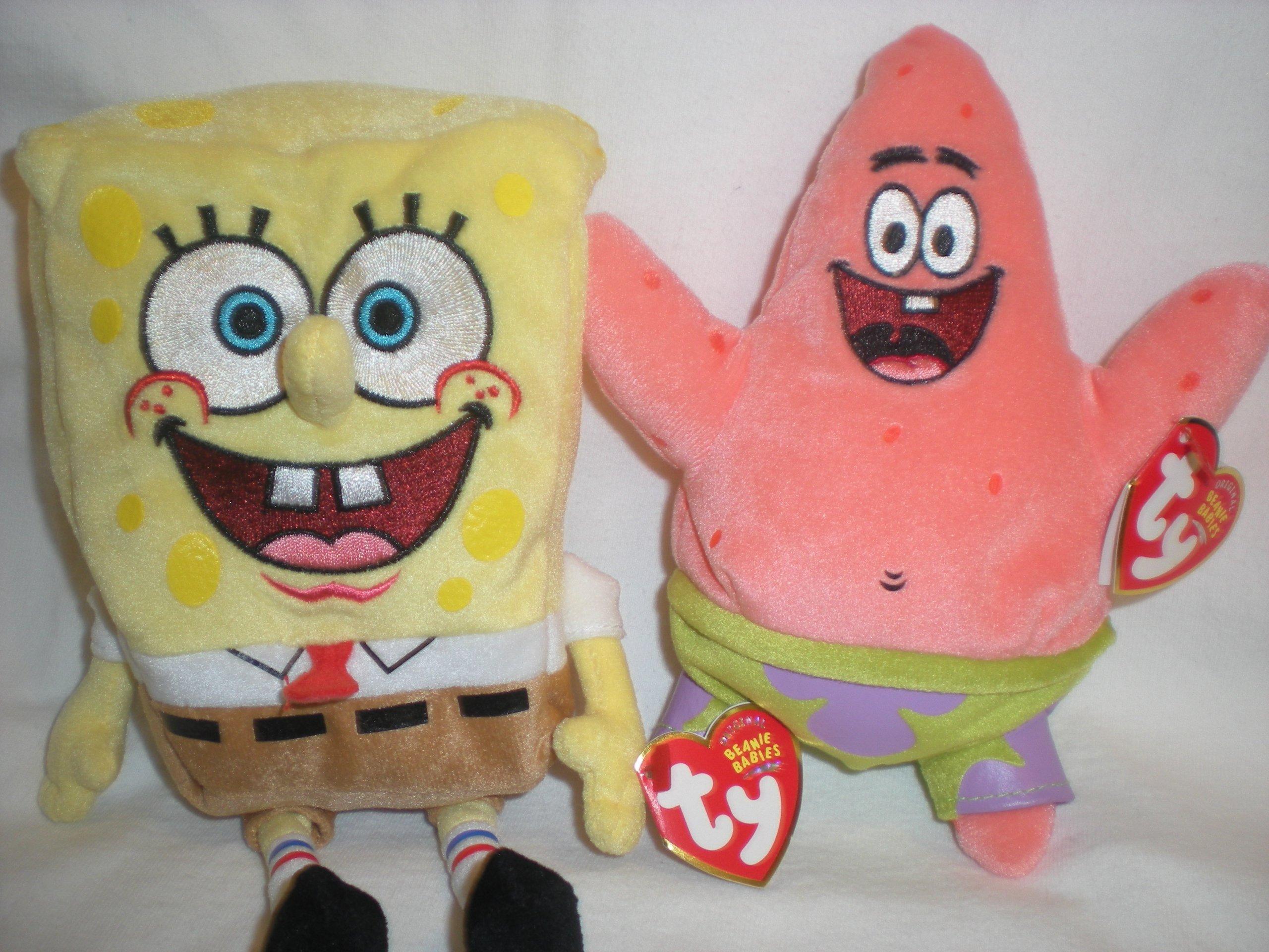 Ty Original SpongeBob SquarePants and Patrick Star Beanie Babies Plush by Ty Spongebob