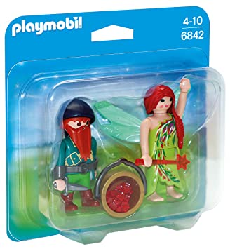 PLAYMOBIL Duo Pack- Elf and Dwarf Duo Pack Figura con Accesorios, Multicolor (6842)
