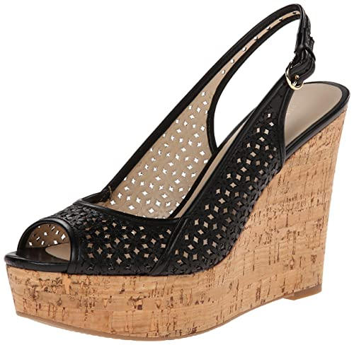 23031aa45a Amazon.com | Nine West Women's Axey Leather Wedge Sandal | Platforms ...