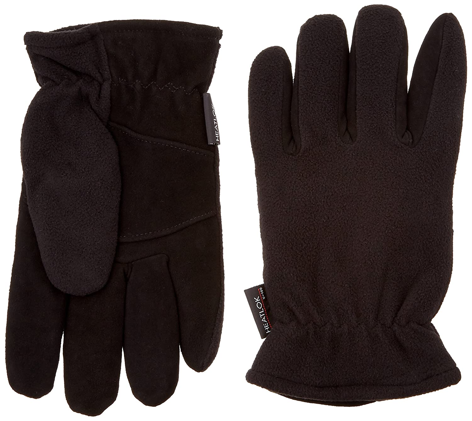 HEATLOK Deerskin Leather Palm Winter Warm Gloves w Polar Fleece Lining (Small)