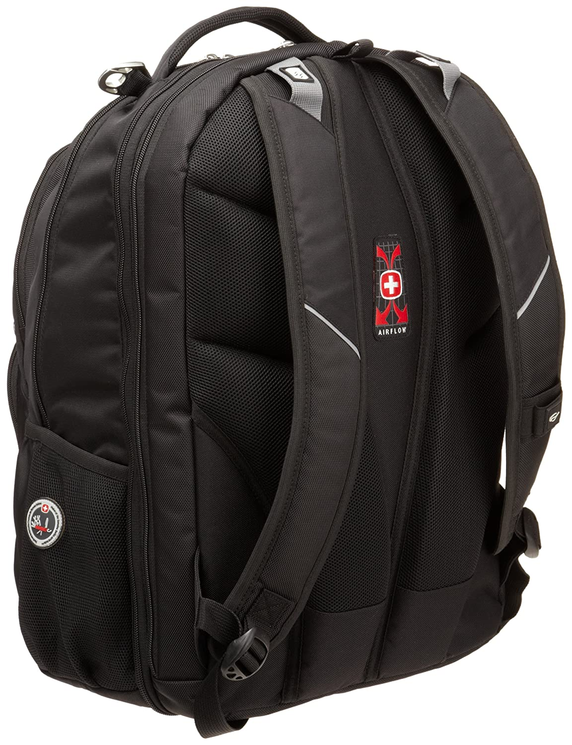 c8c045d6837f Swiss Gear SA1908 Black TSA Friendly ScanSmart Laptop Backpack - Fits Most  17 Inch Laptops and Tablets