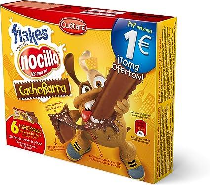 Cuetara ChocoBarra - Galleta rellena de crema Nocilla y cereales, 3 x 30 g - [Pack de 6]: Amazon.es: Alimentación y bebidas