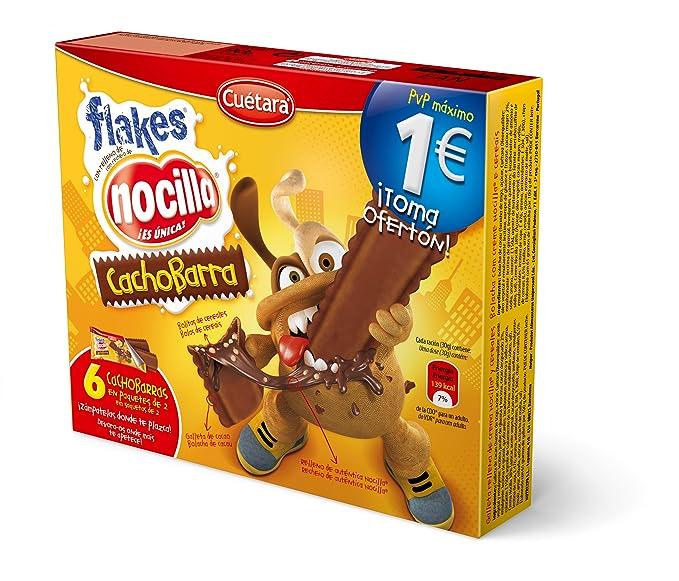 Cuetara ChocoBarra - Galleta rellena de crema Nocilla y cereales, 3 x 30 g -