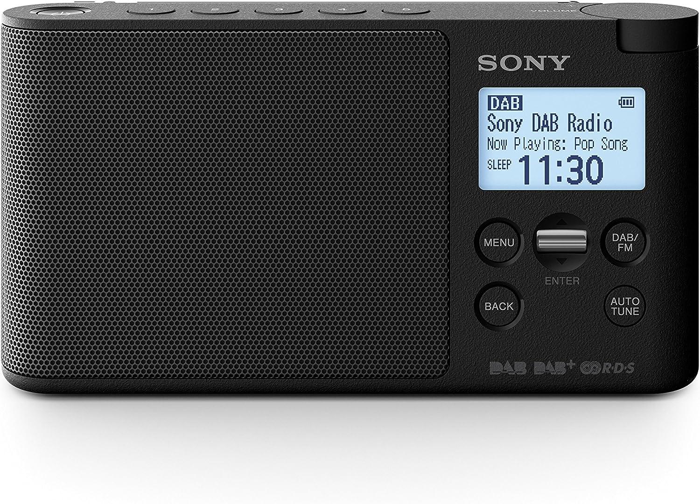 Sony XDRS41DB.EU8 - Radio portátil Digital (Dab/Dab+/FM, Altavoz, 5 presintonías Digitales y 5 analógicas, Pantalla LCD, Temporizador, Adaptador CA) Negro