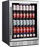 """Kalamera 24"""" Beverage Refrigerator 154 Can Built-in or Freestanding Single Zone Touch Control."""