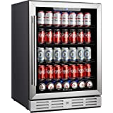 """Kalamera 24 inch 154 Cans Capacity Beverage Cooler- Fit Perfectly into 24"""" Space Built in Counter or Freestanding - for Soda,"""