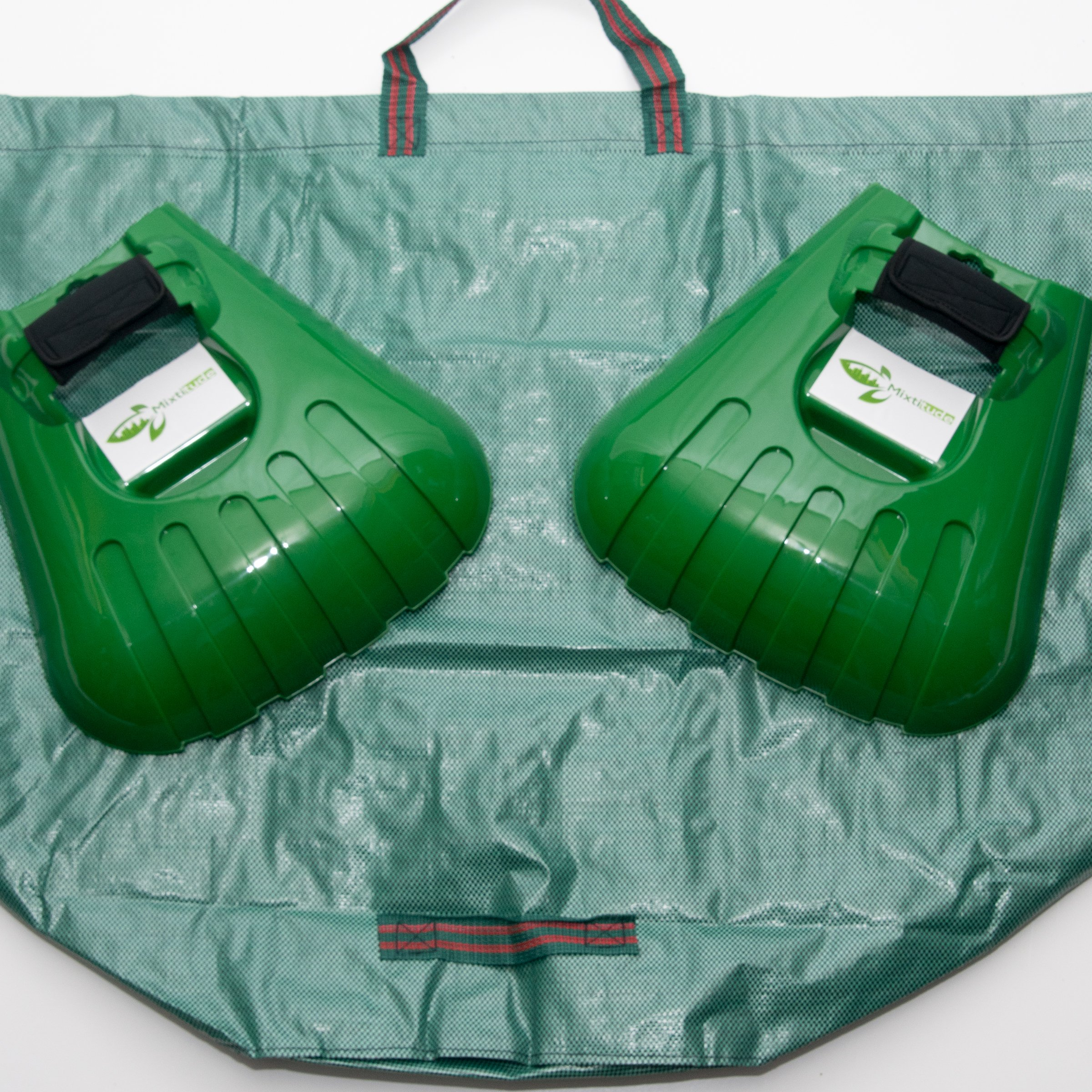 Mixitude Garden Hand Leaf Claw Scoops complete with Protective Wrist Pad and 72 Gallon Leaf Waste Bag by Mixtitude (Image #2)
