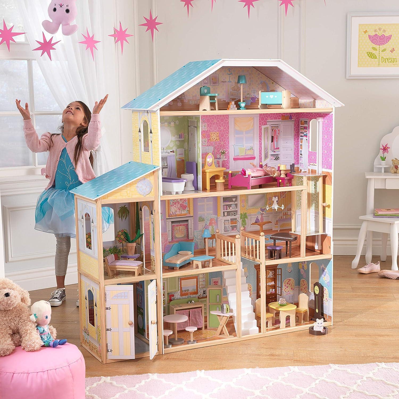 Casa de bonecas grande nas lojas de brinquedos da Amazon dos EUA