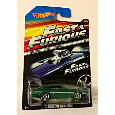 HOT WHEELS 2015 FAST AND FURIOUS RELEASE EXCLUSIVE GREEN '72 FORD GRAND TORINO SPORT #4/8 DIE-CAST: Toys & Games