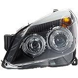 FK Automotive FKFSOP029 Angel Eyes - Faros delanteros para Opel Astra H (modelos 04-10), color negro