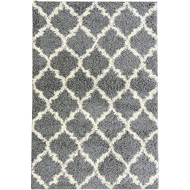 Ottomanson Collection shag Trellis Area Rug, 3'3  x 4'7 , Gray