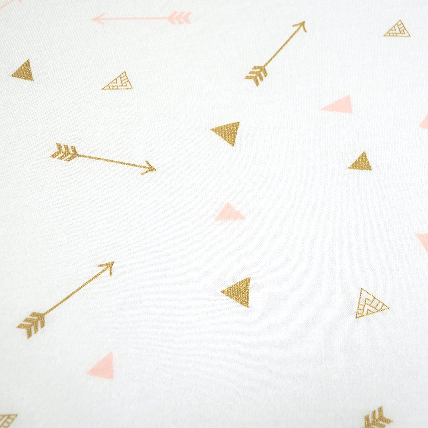 Pink Stars and Moons for Girls Soft Breathable American Baby Company Printed 100/% Natural Cotton Jersey Knit Fitted Portable//Mini-Crib Sheet