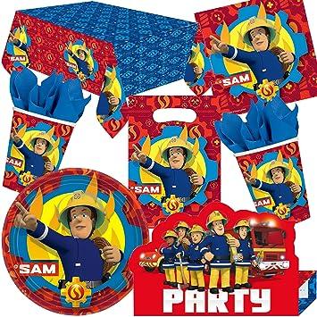 101 Juego de set de fiesta * bombero Sam * para fiestas de ...
