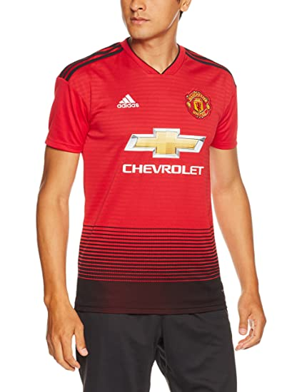 8989991bd91 Image Unavailable. Image not available for. Color  adidas 2018-2019 Man Utd  Home Football Shirt