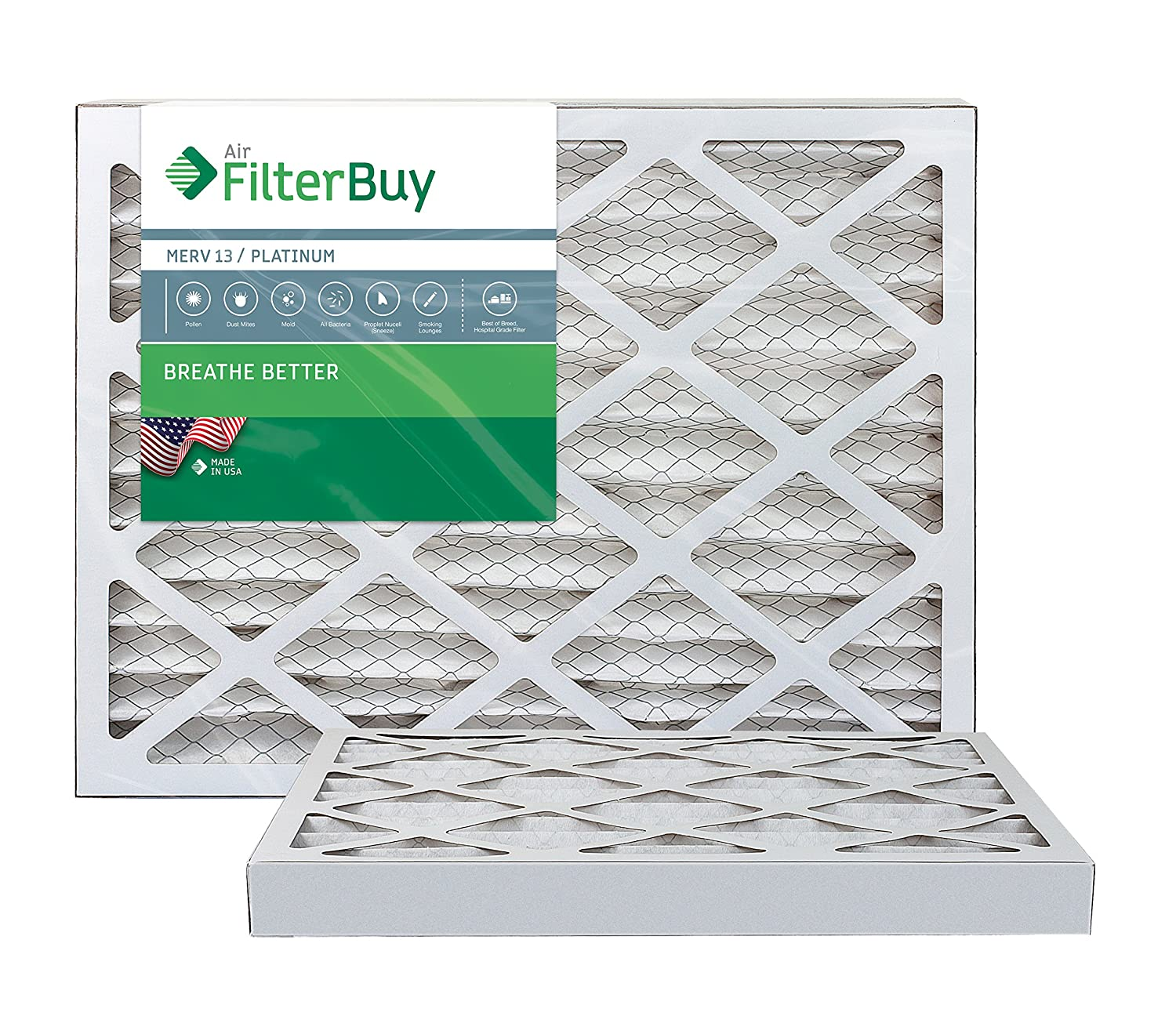 Nordic Pure 11/_1//4x11/_1//4x1 Exact MERV 13 Pleated AC Furnace Air Filters 1 Pack