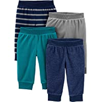 Simple Joys by Carter's paquete de 4 pantalones de forro polar para niños