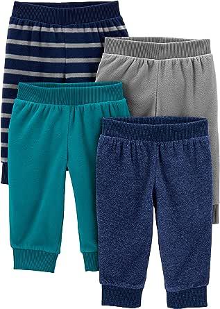 Simple Joys by Carter's paquete de 4 pantalones de forro polar para niños