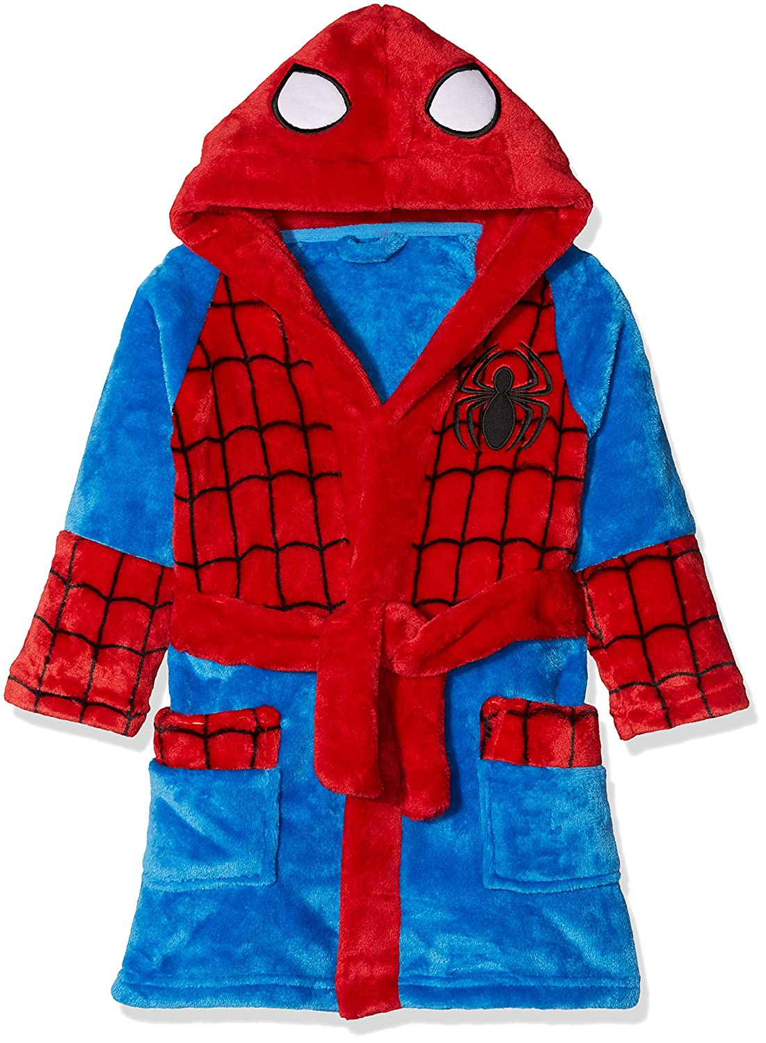 Mothercare Spiderman Fluffy, Accappatoio Bimbo, (Red/Blue), S JE069
