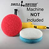 "8 Inch Velcro Scrub Pad Kit Fits Electric Variable Speed Polisher with 5/8""-11 Spindle Thread"