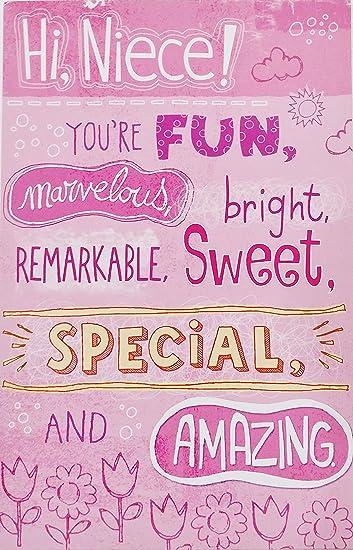 Amazon.com: Hi sobrina – eres divertido, maravilloso ...