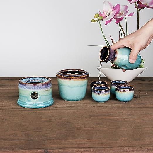 Amazon.com: Sake Set de regalo de servir con de cerámica ...