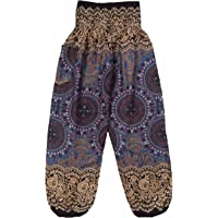 Love Quality Ladies Rose Harem Pants, Baggy One Size Rose Hippie
