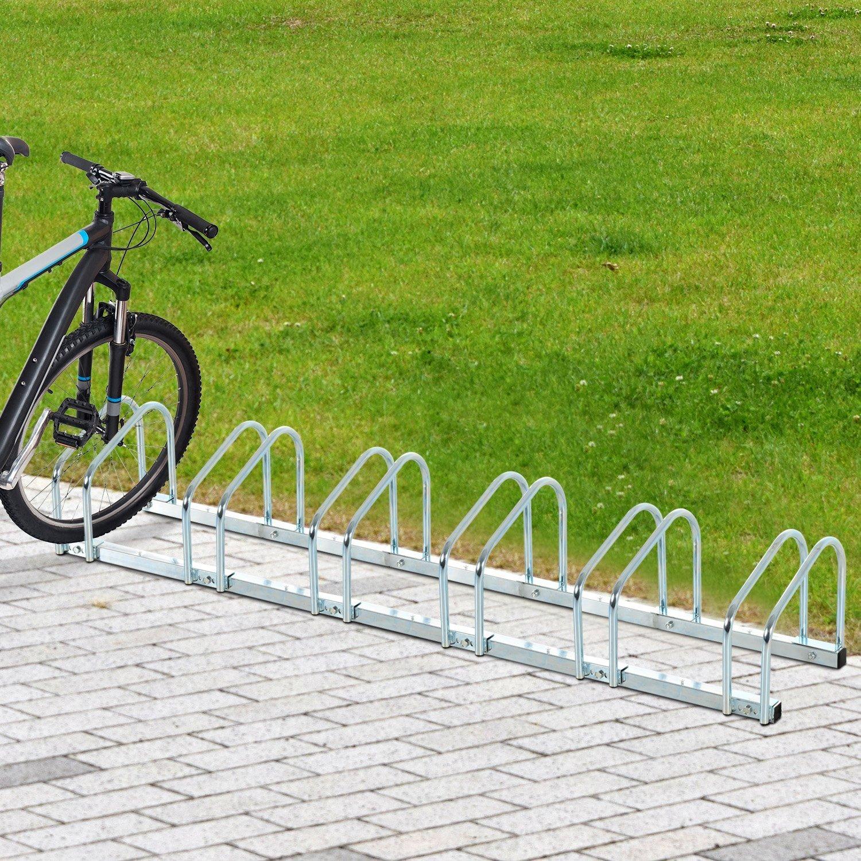 Homcom Aparcamiento 3/5/6 Bicicletas Soporte Aparcar Bici Suelo y ...