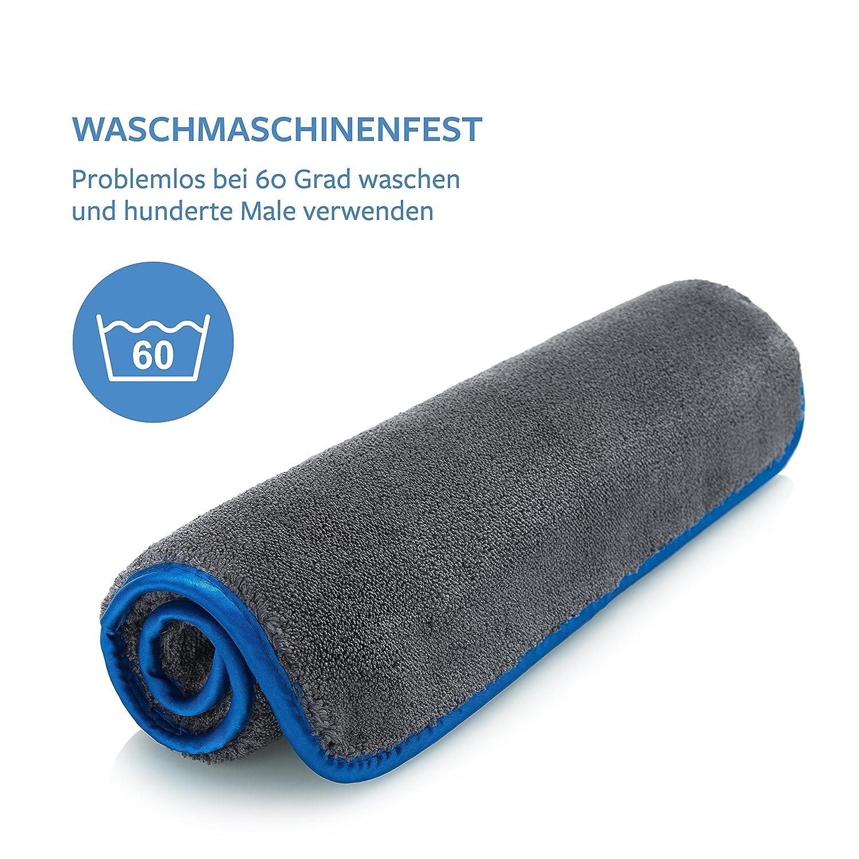 limpieza coche microfibra toalla secado coche 1x Pa/ños profesionales de microfibra con 1200 GSM 40x40 cm 1 extremadamente absorbentes y cuidadosos con la pintura gracias a la microfibra suave