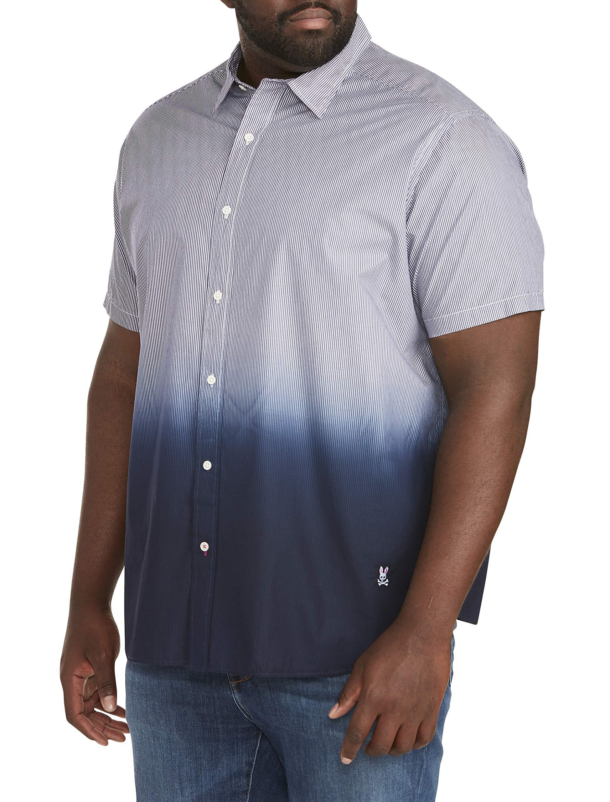 Psycho Bunny Dip Dye Stripe Sport Shirt Navy