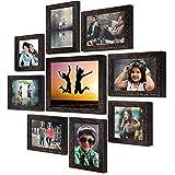 "Ajanta Royal Set of 9 Individual Photo Frames (6-5""x7"", 2-5""x5"", 1-8""x10"" Inch) : A-90 (Metallic Brown)"